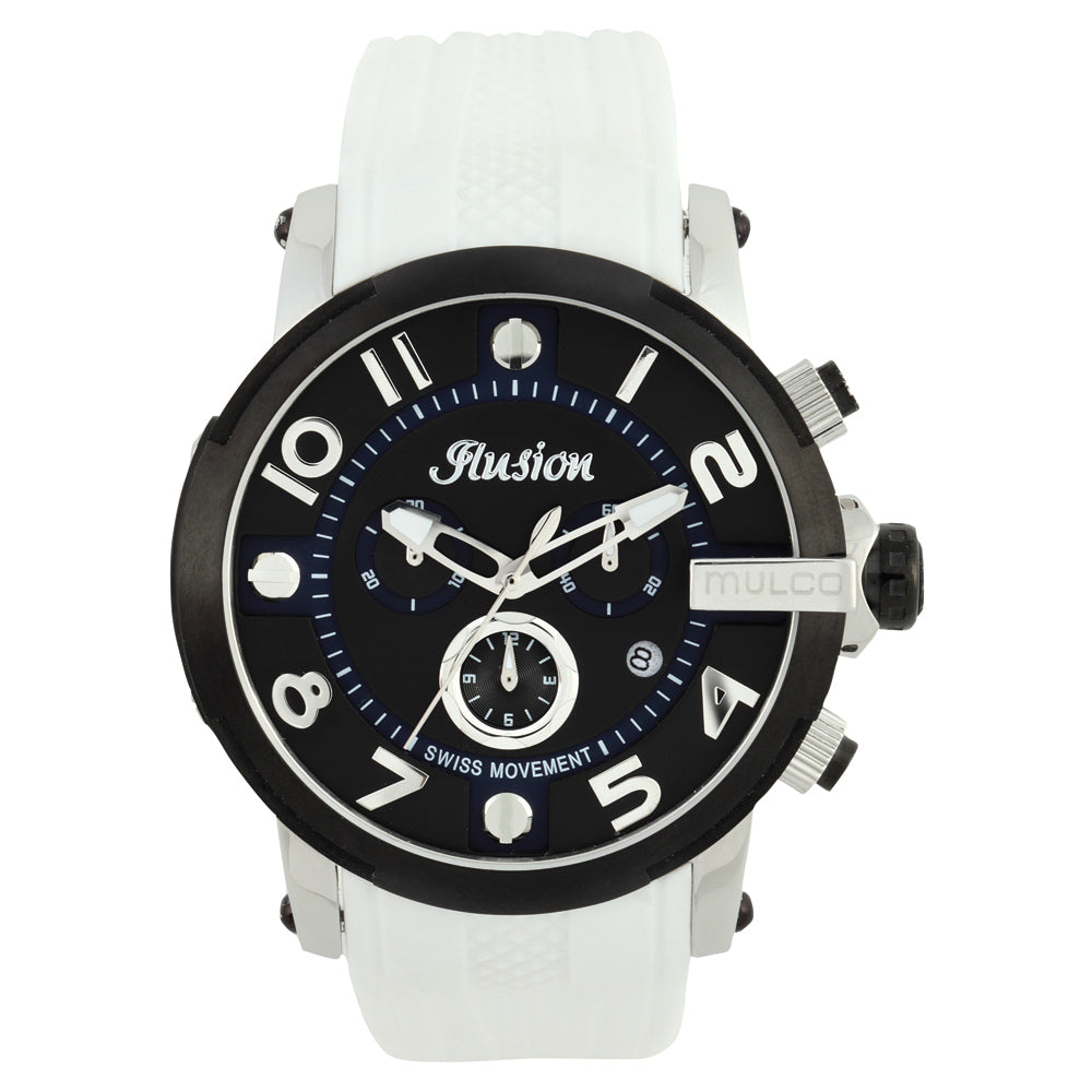 Men Watches | White Silicone Band | Silver accents | Water Resistant
