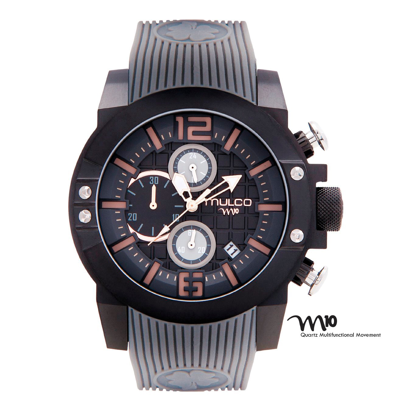 Men Watches | Mulco M10 104 | Gray Silicone Band