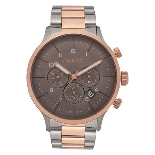 Men Watches | Silver ando Rose Gold Stainless Steel Band | Rose Gold accents | Water Resistant