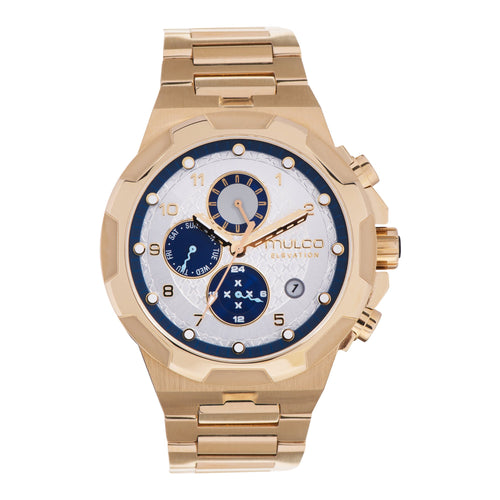 Men Watches | Gold Stainless Steel Band | Gold accents | Water Resistant