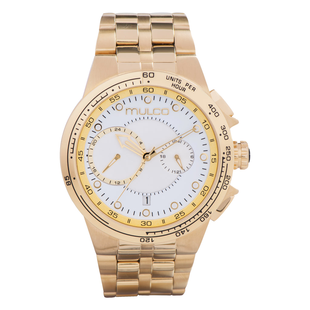 Men Watches | Stainless Steel Band | Gold accents | Water Resistant