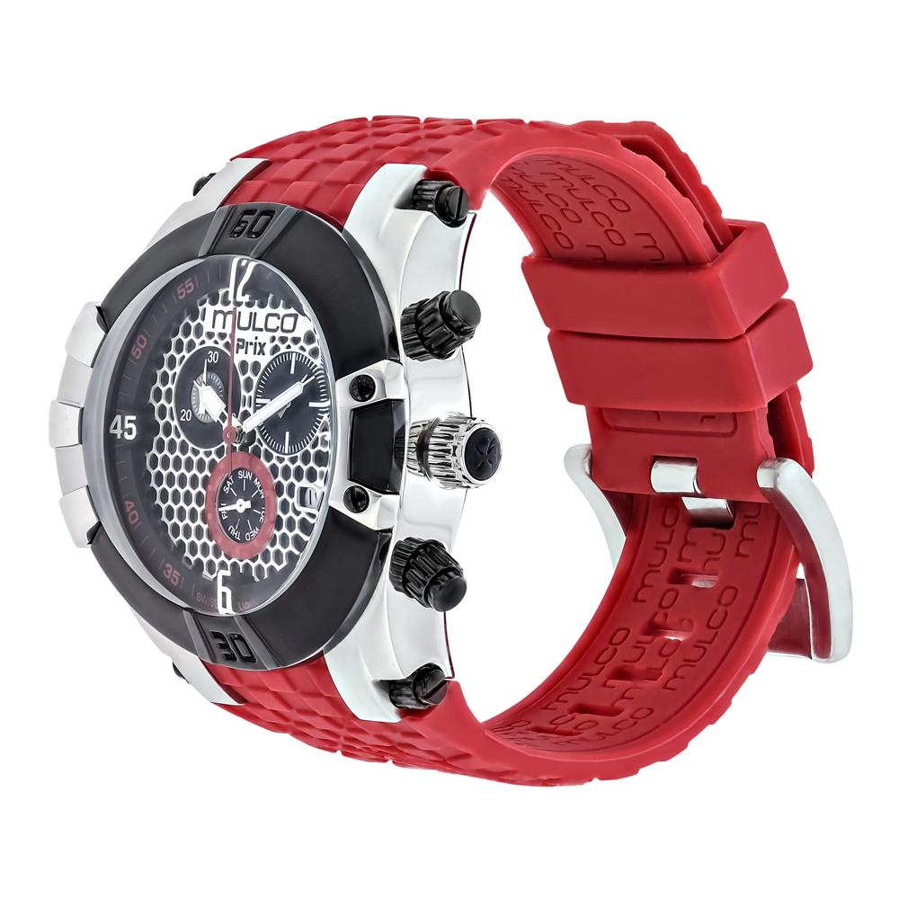 Men Watches | Mulco Prix Snap | Racing pattern texture