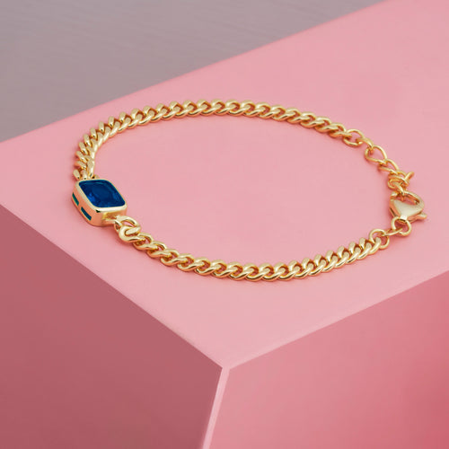 Mulco Jewelry | Vintage Chain Bracelets | Blue Emerald | Lifestyle