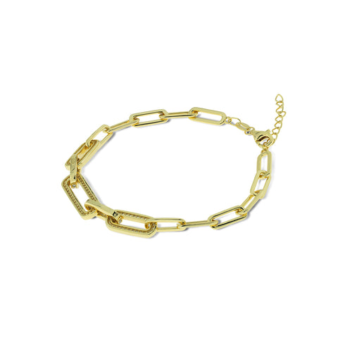 Mulco Jewelry | Boyfriend Chain Bracelets | Yellow Gold Plated