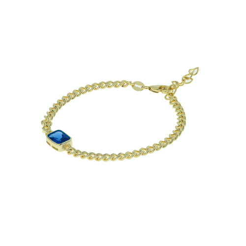 Mulco Jewelry | Vintage Chain Bracelets | Blue Emerald