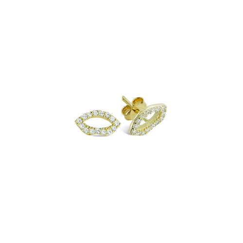 Mulco Bijoux | Lips Sterling Silver Studs Earrings | Cubic Zirconia