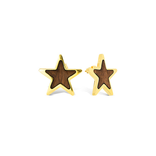 Mulco Bijoux | Star Woods | Studs Earrings