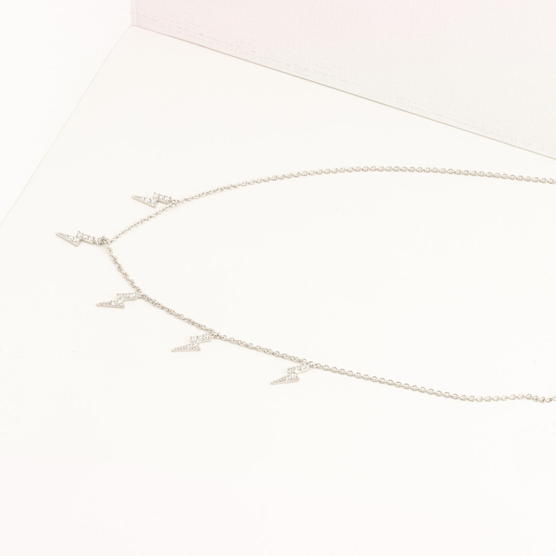 Mulco Bijoux | Mini Lightning Charms thin Chain Chocker Necklace | Lifestyle