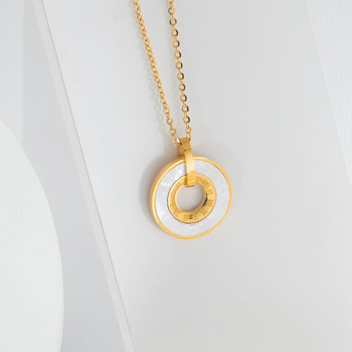 Mulco Bijoux | Enamel Coin Thin Chain Necklace | Lifestyle
