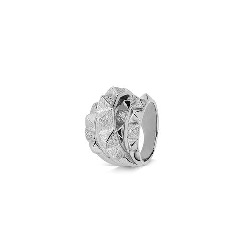 Mulco Bijoux | Pyramids Studs Ring | Silver Plated