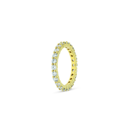 Mulco Bijoux | Eternity Band Stackable Ring | White Cubic Zirconia