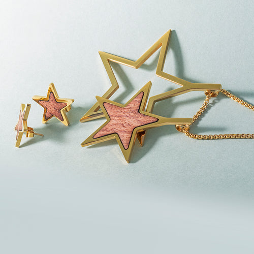 Mulco Bijoux | Double Star Wood Chain Necklace | Lifestyle