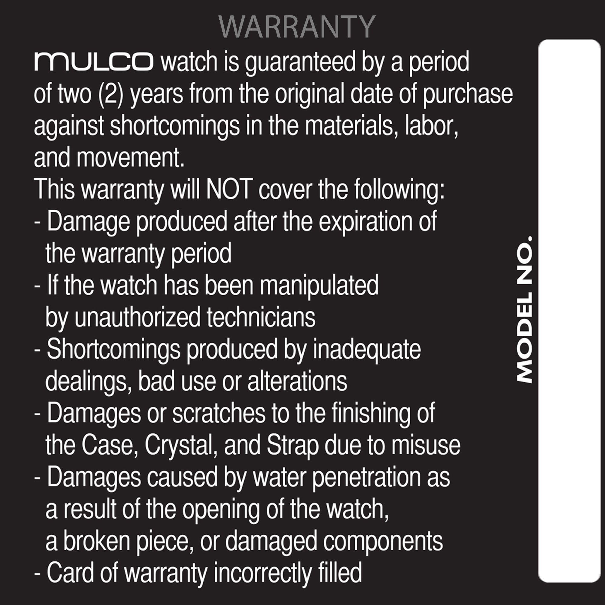 Mulco  Lush Fish | Warranty