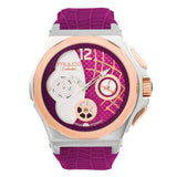 Ladies Watches | Fucsia Silicone Rubber Band | Rose Gold accents| Water Resistant