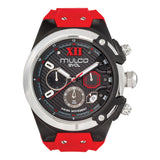 Men Watches | Red Silicone Band | Silver accents | Water Resistant