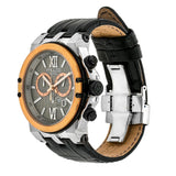 Ladies - Mens Watches | Mulco Nefesh Iconic | Stainless Steel | BlackItalianLeatherReverse