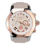 Mulco Watches Women | Enchated Maple | Rose Gold Accents | Beige
