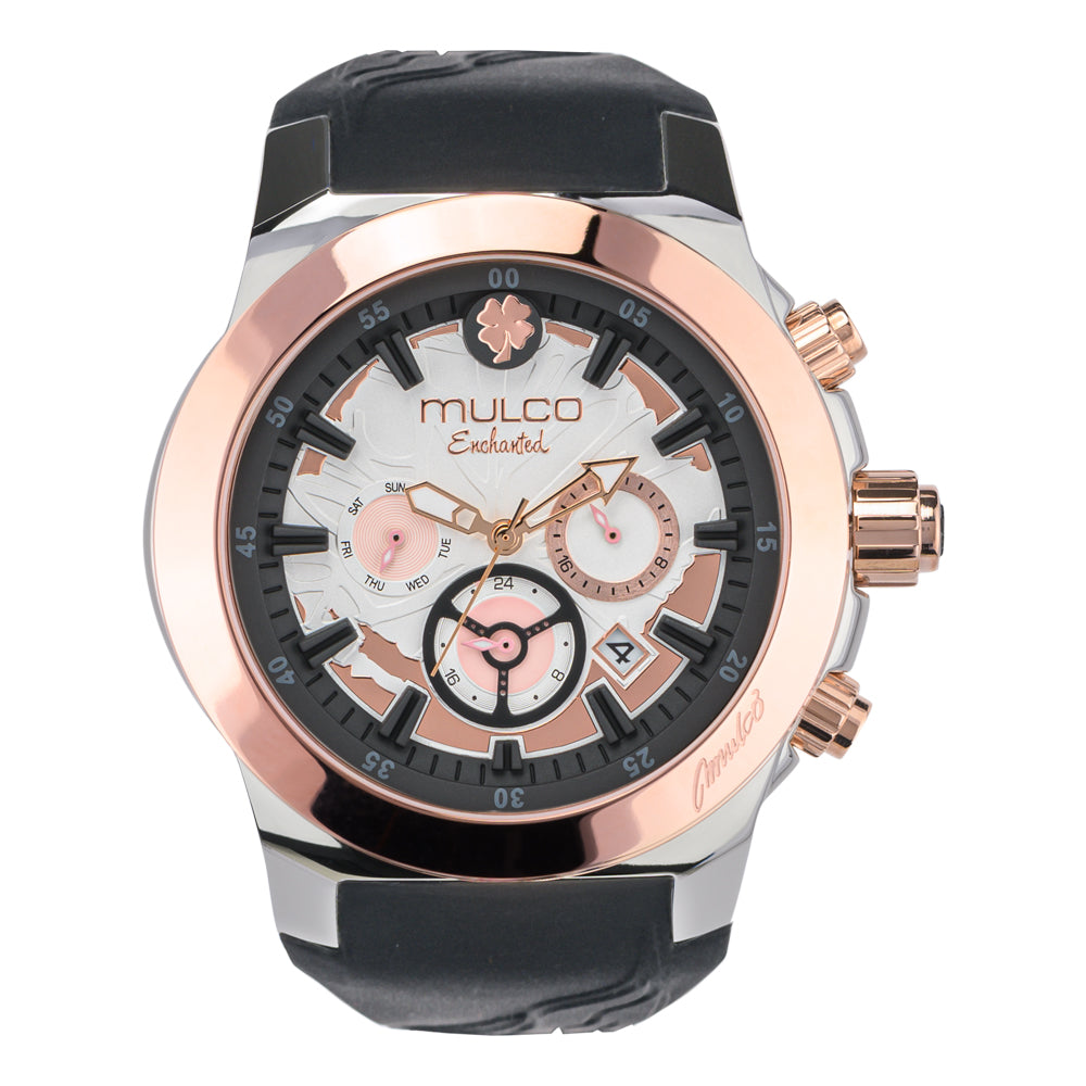 Mulco Watches Women | Enchated Maple | Rose Gold Accents | Black