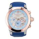 Mulco Watches Women | Enchated Maple | Rose Gold Accents | Blue