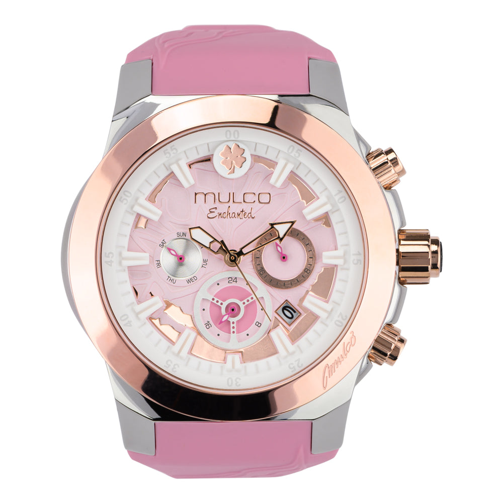 Mulco Watches Women | Enchated Maple | Rose Gold Accents | Pink