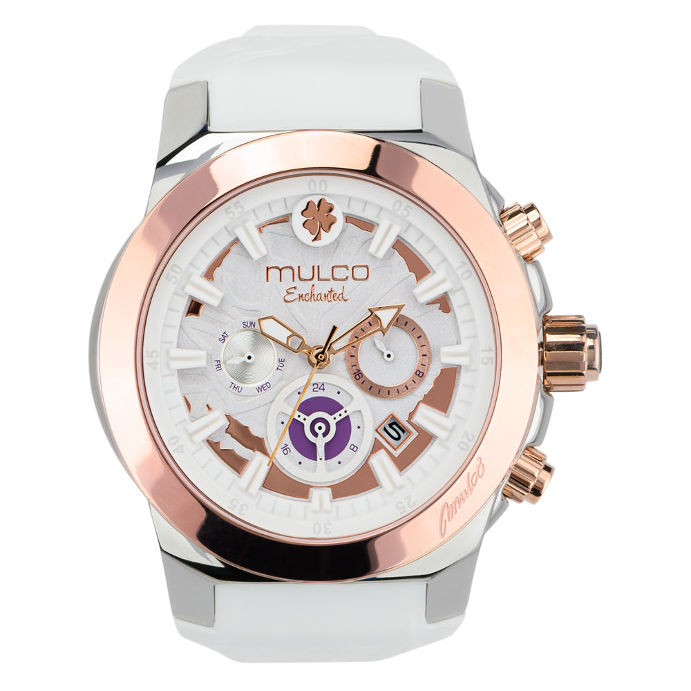 Mulco Watches Women | Enchated Maple | Rose Gold Accents | White