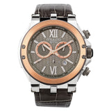 Ladies - Mens Watches | Gray Leather Band | Rose Gold accents | Water Resistant