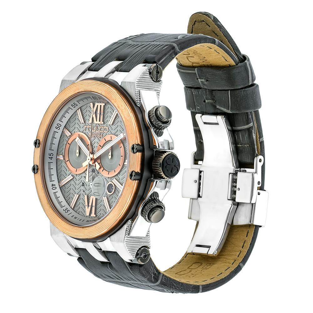 Ladies - Mens Watches | Mulco Nefesh Iconic | Stainless Steel | GrayItalianLeatherReverse