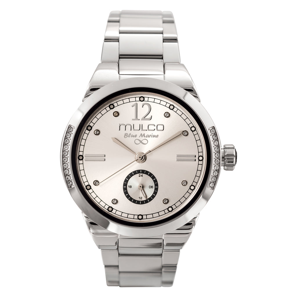 Womens Watches | Silver Stainless Steel Band | Rose Gold accents| Water Resistant