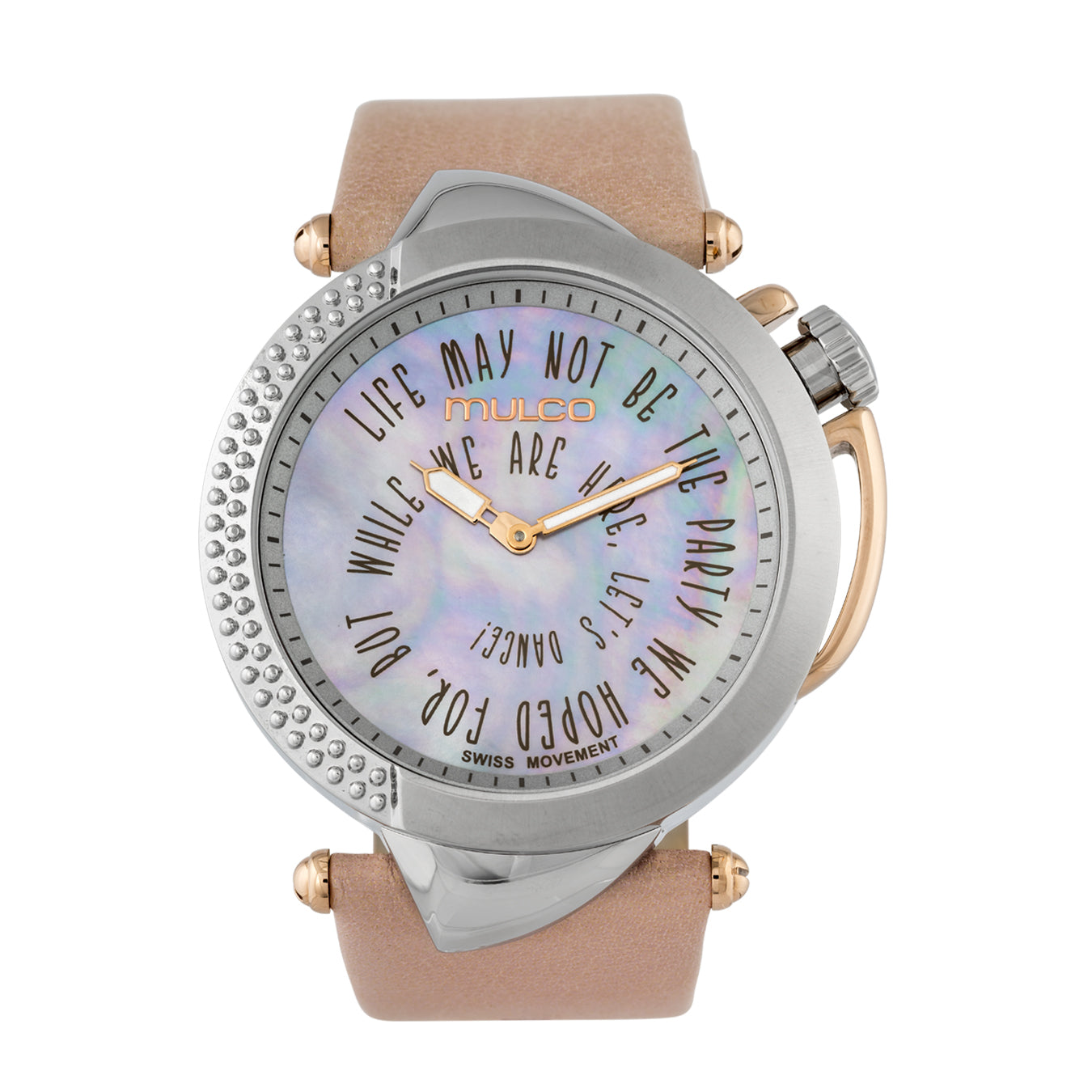 Ladies Watches | Pink Leather Band | Rose Gold accents | Water Resistant