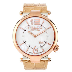 Ladies Watches | Beige Leather Band | Rose Gold accents | Water Resistant