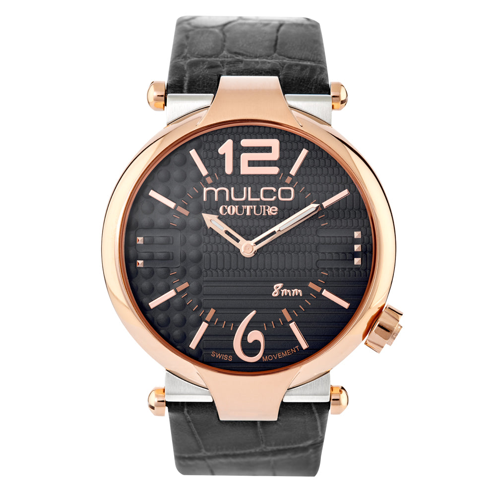 Ladies Watches | Black Leather Band | Rose Gold accents | Water Resistant