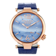 Ladies Watches | Blue Leather Band | Rose Gold accents | Water Resistant