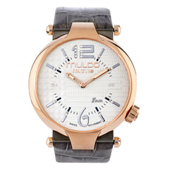 Ladies Watches | Gray Leather Band | Rose Gold accents | Water Resistant