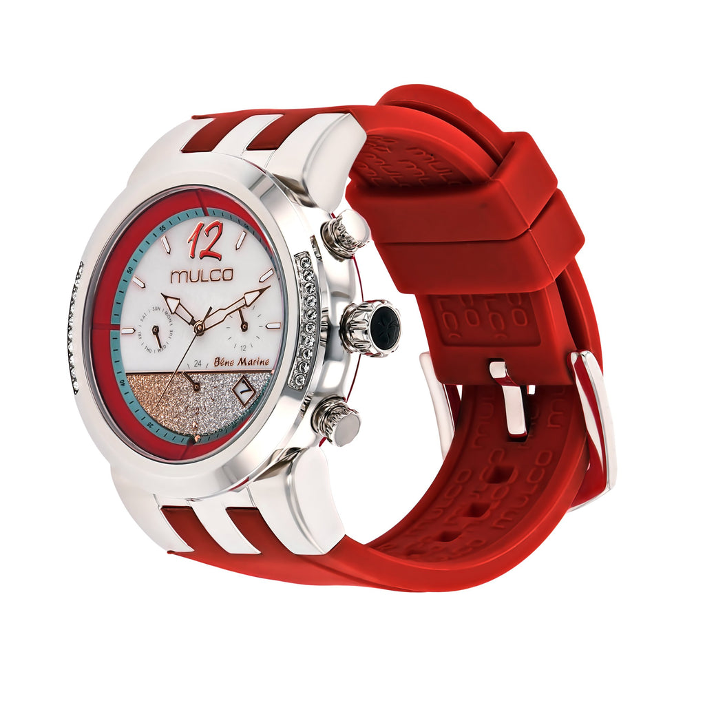 Ladies Watches | Mulco Blue Marine Infinity | Stainless Steel | RedReverse