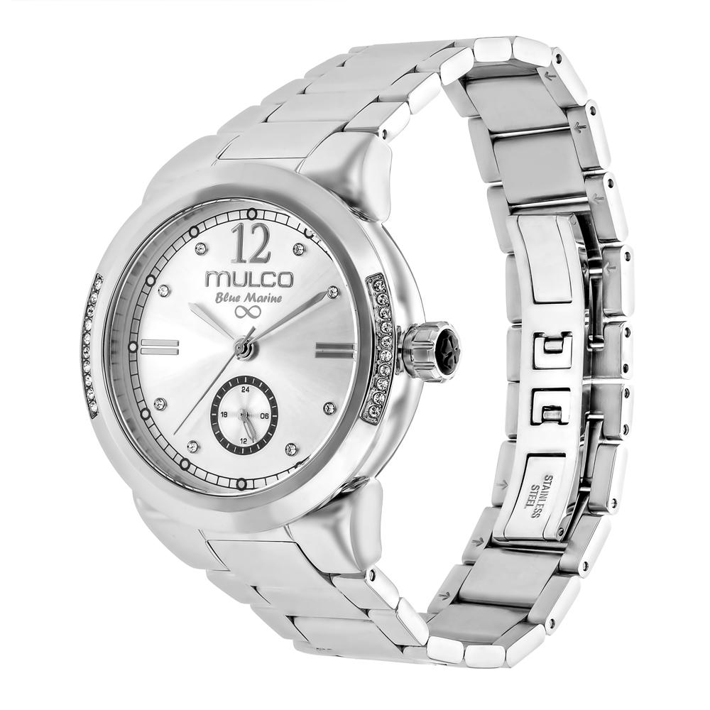 Womens Watches | Mulco Blue Marine Metal | Swarovski | SilverReverse