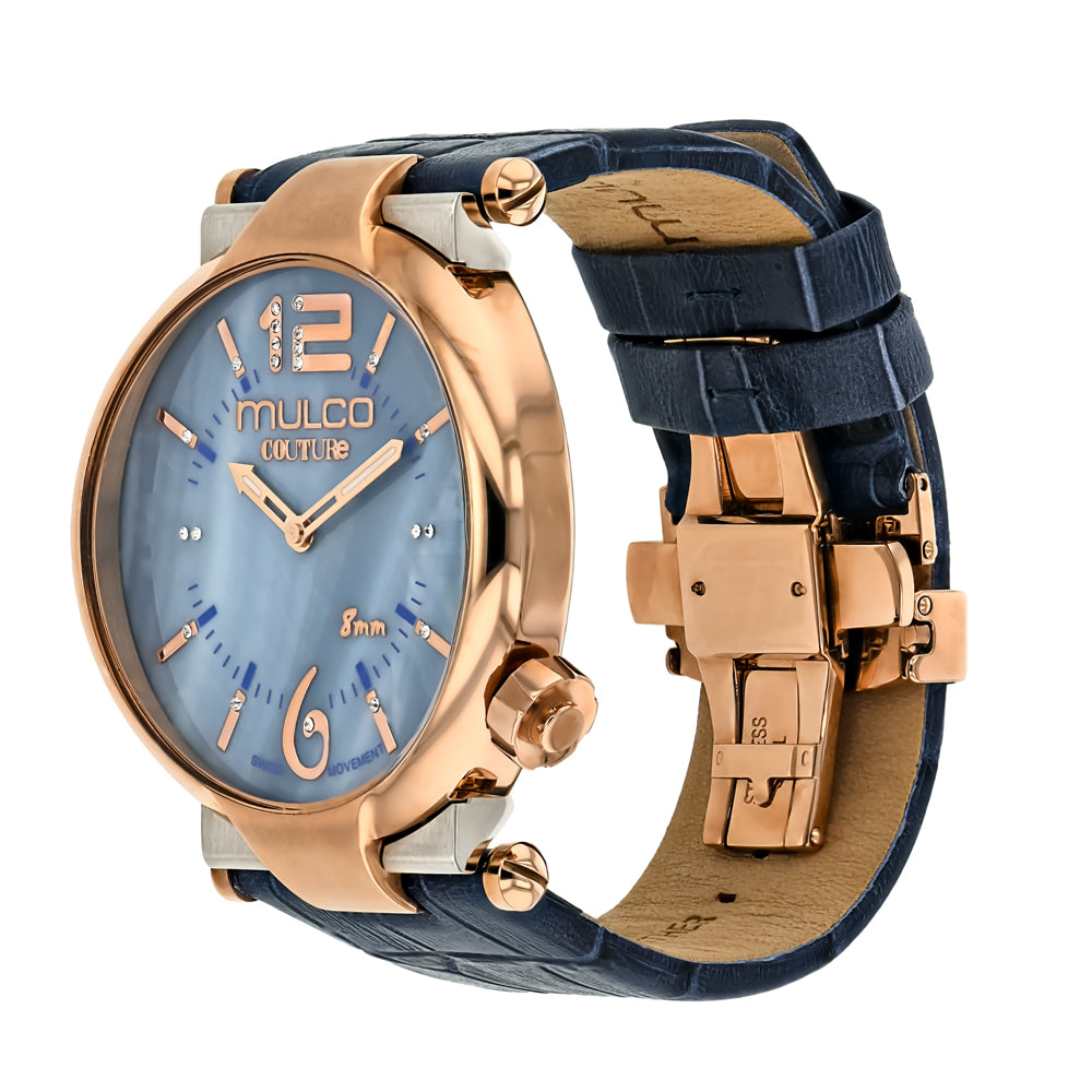Ladies Watches | Mulco Couture Slim | Stainless Steel | BlueReverse