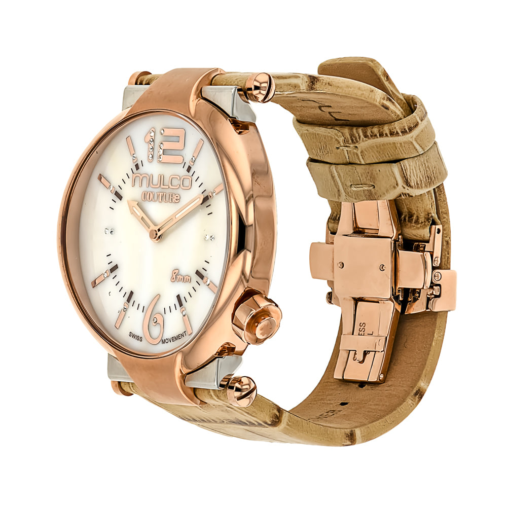 Ladies Watches | Mulco Couture Slim | Stainless Steel | BeigeReverse