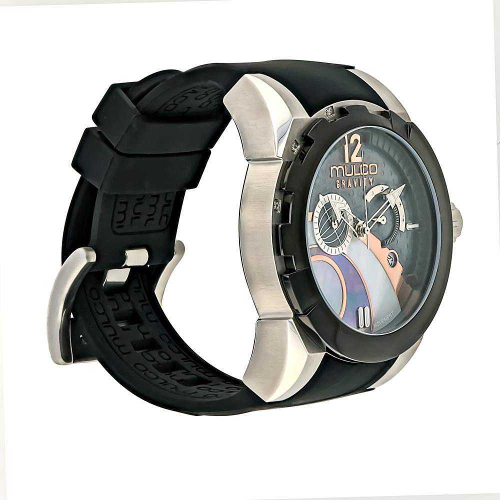 Womens Watches | Mulco Gravity IOS | Black Silicone Band
