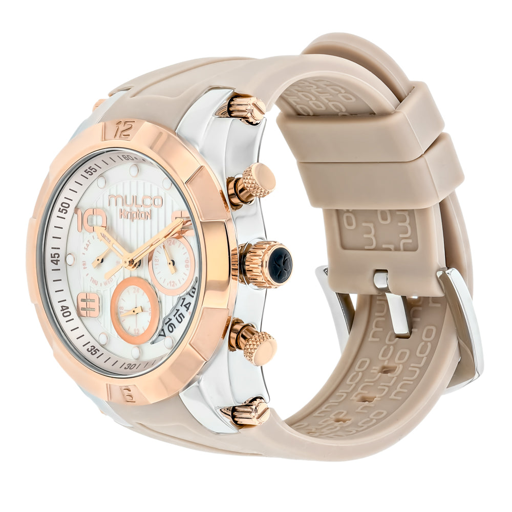 Ladies Watches | Mulco Kripton Lady | Special Pattern Texture | BeigeReverse