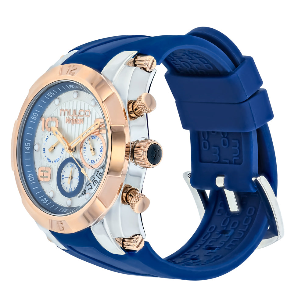 Ladies Watches | Mulco Kripton Lady | Special Pattern Texture | BlueReverse