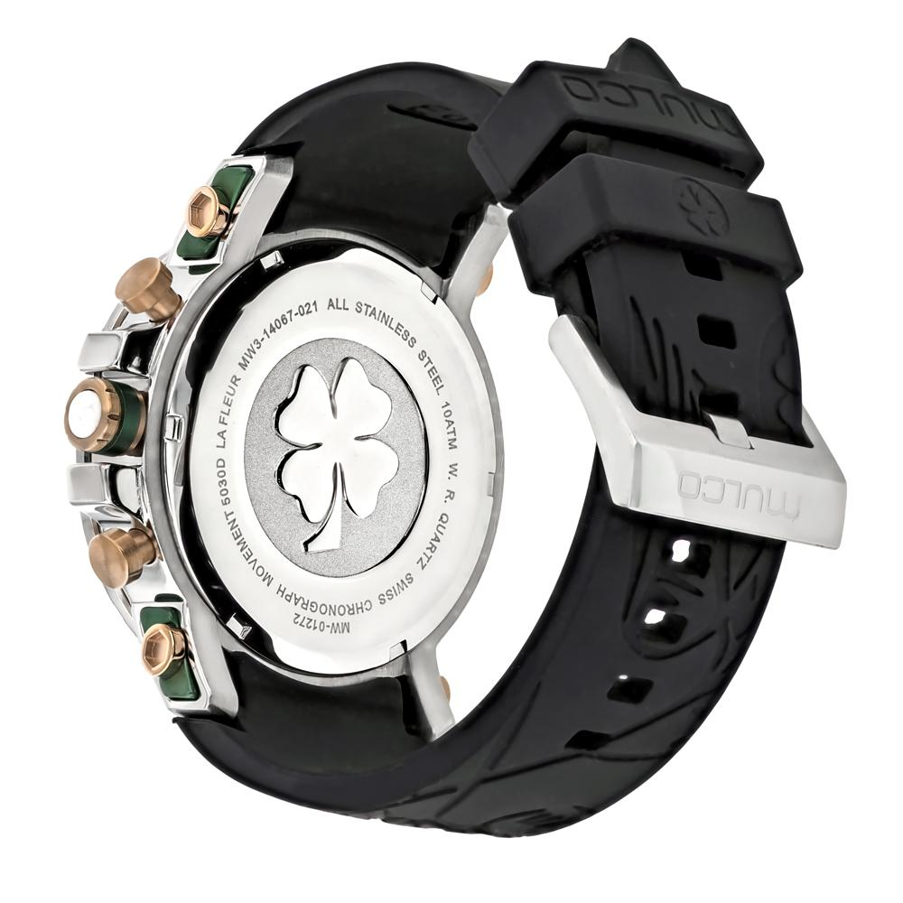 Womens Watches | Mulco La Fleur Hortensia | Black Silicone Band