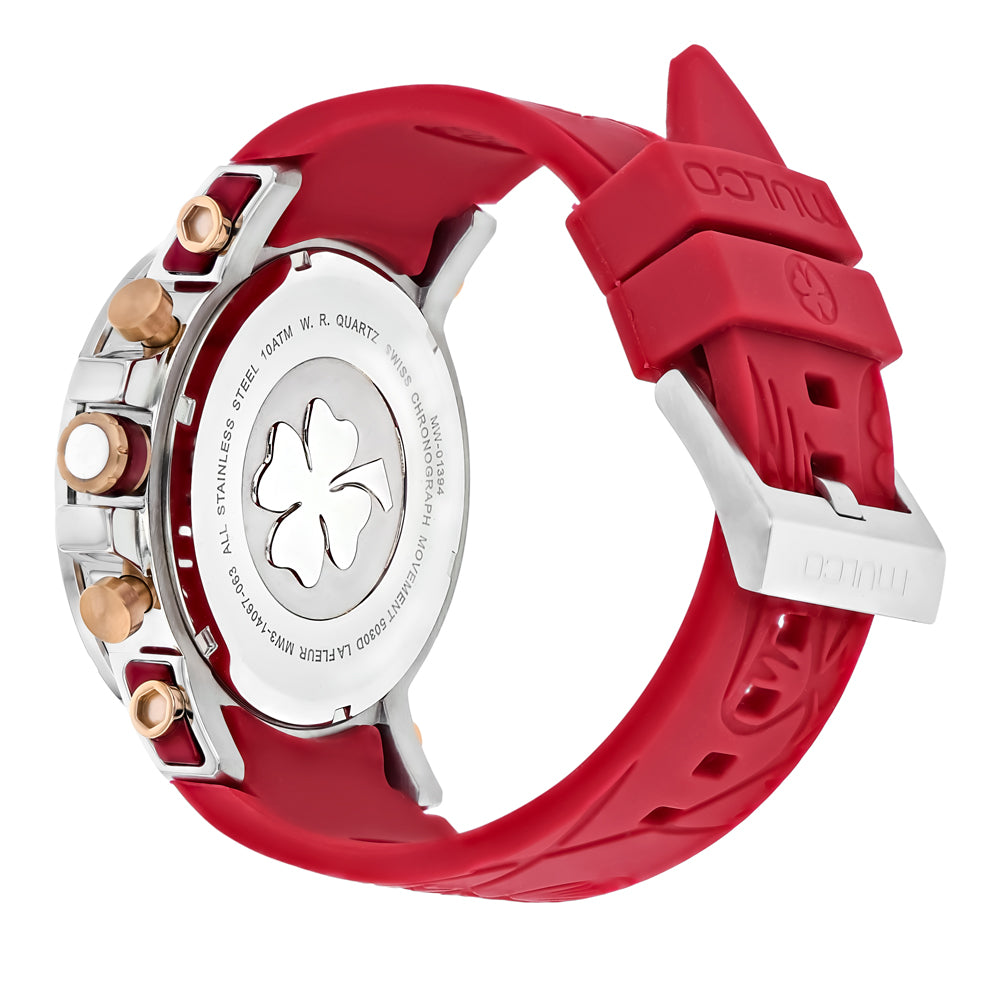 Womens Watches | Mulco La Fleur Hortensia | Red Silicone Band