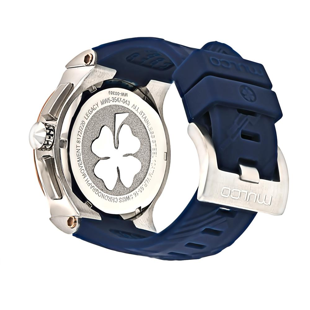 Womens Watches | Mulco  Legacy Cubism | Blue Silicone Band