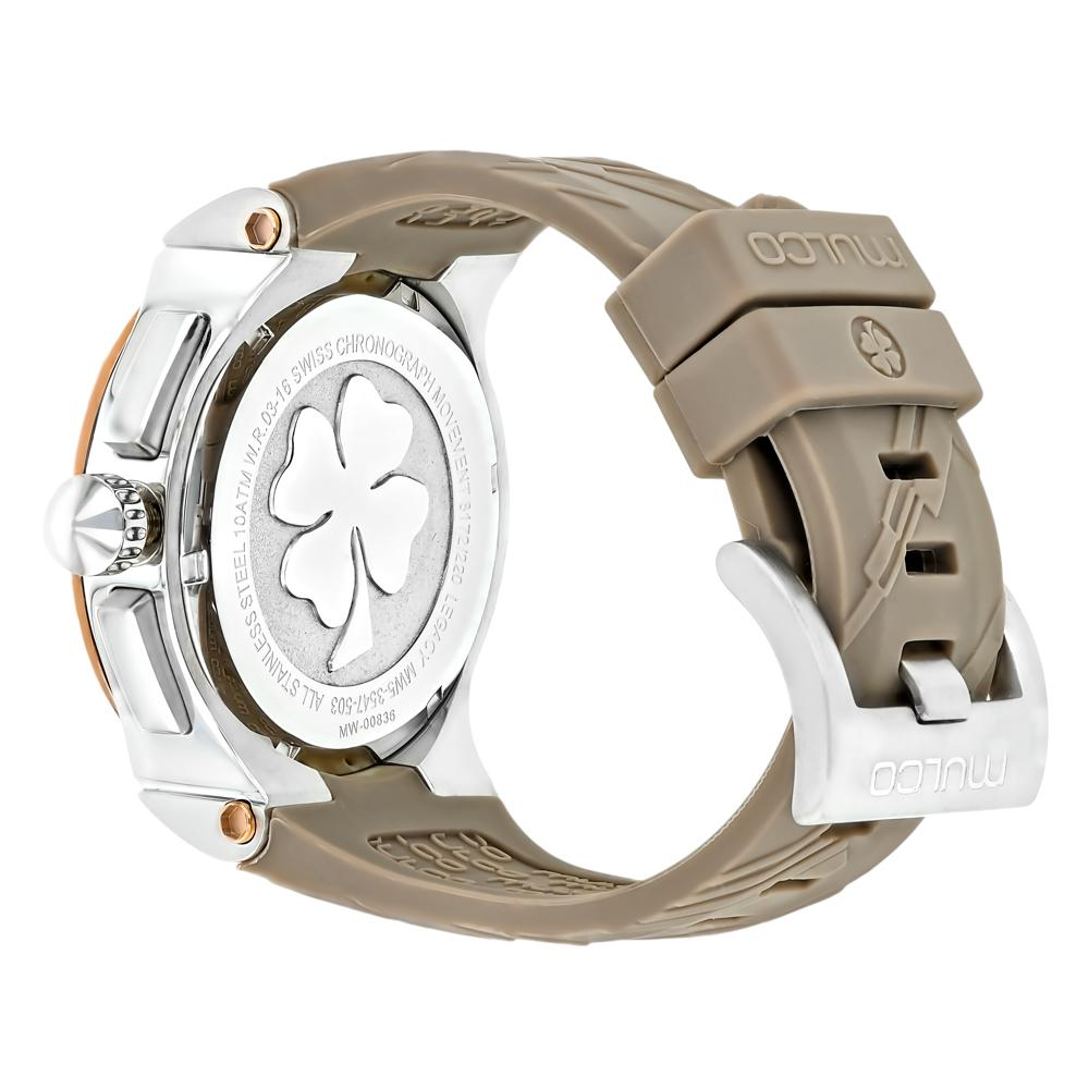 Womens Watches | Mulco  Legacy Cubism | Taupe Silicone Band