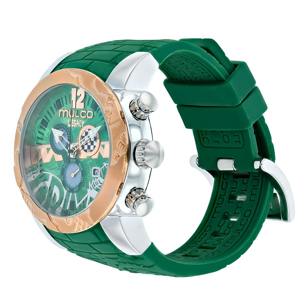 Womens Watches | Mulco Legacy Street Art | Special Pattern design | GreenReverse