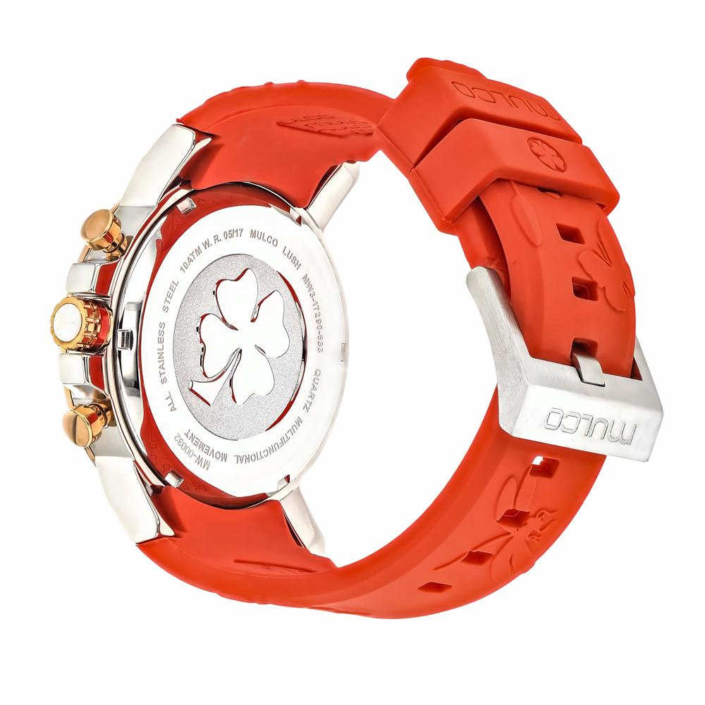 Ladies Watches | Mulco Lush Bee | Coral Silicone Band