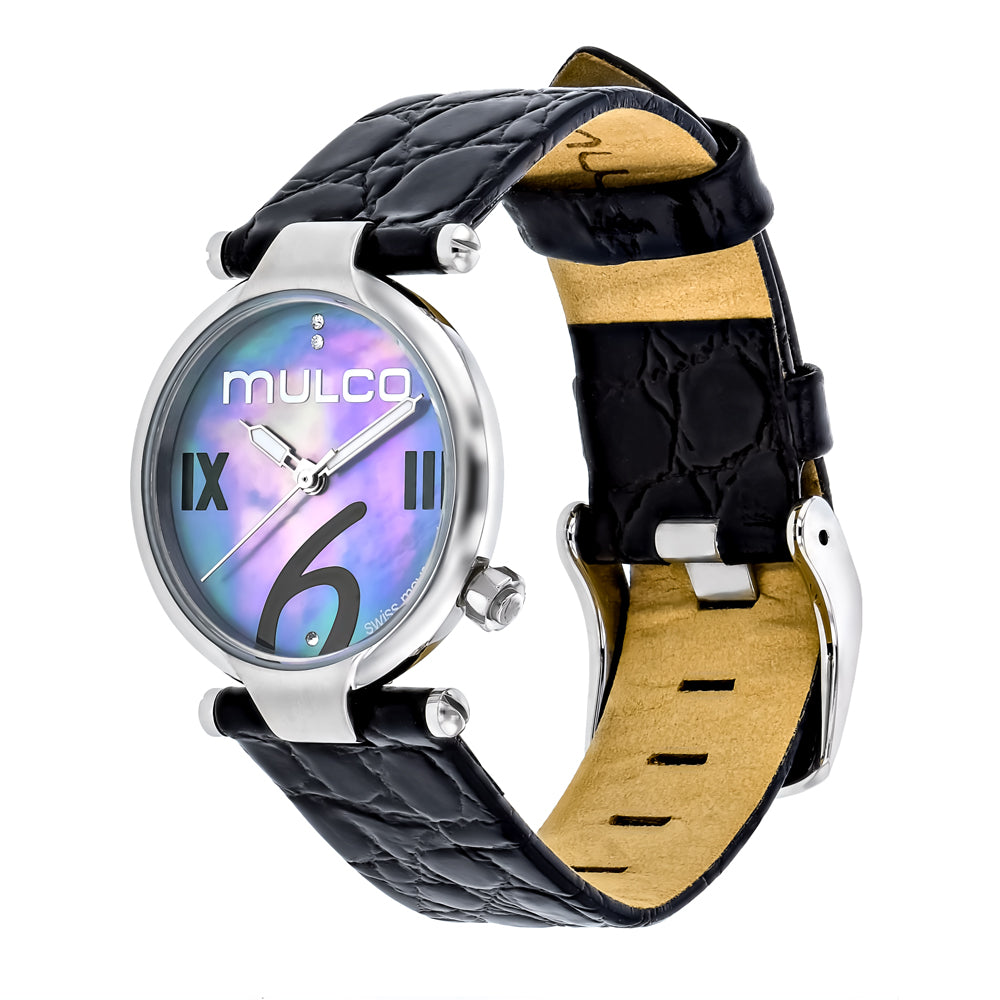 Ladies Watches | Mulco Mini Donna | Black Leather Band | BlackReverse