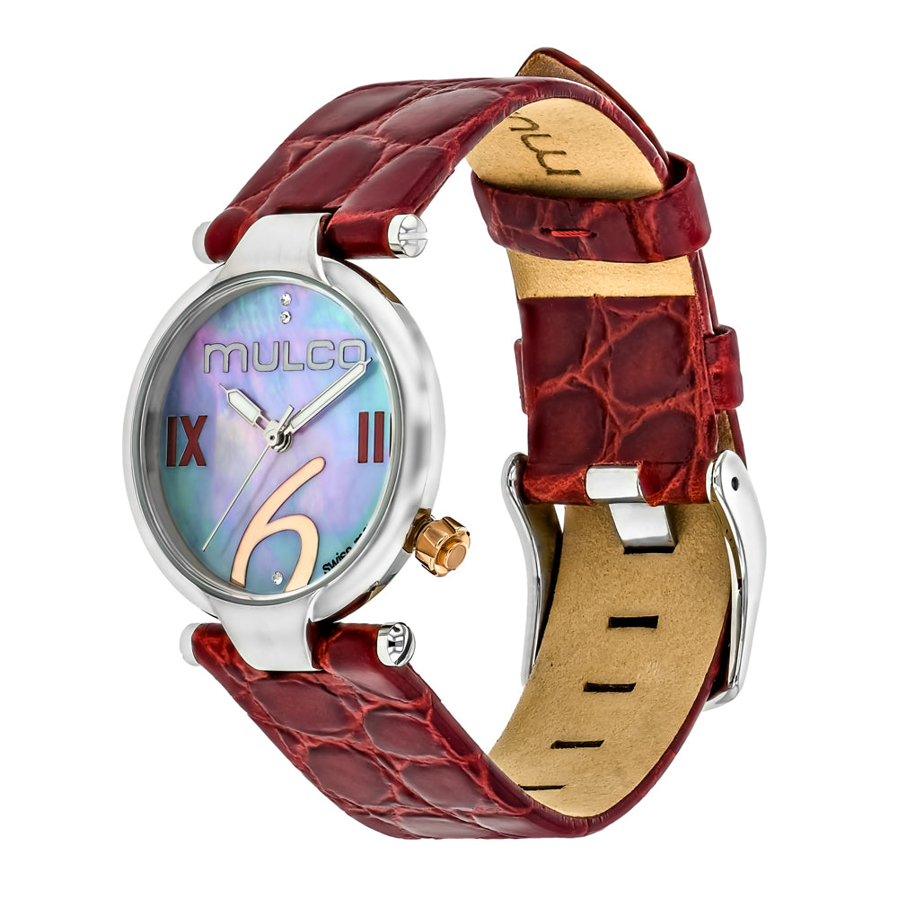 Ladies Watches | Mulco Mini Donna | Red Leather Band | RedReverse