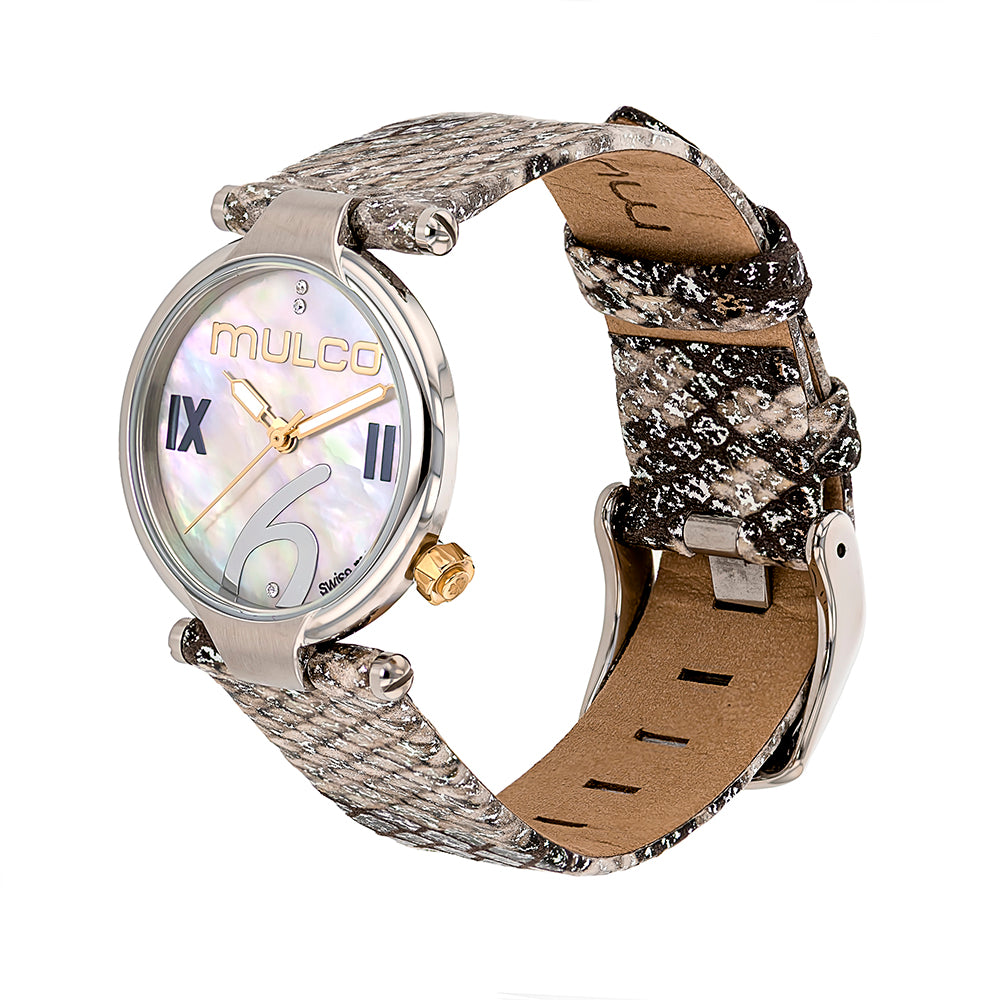 Ladies Watches | Mulco Mini Donna | Gray Phyton Leather Band | GrayPhytonReverse