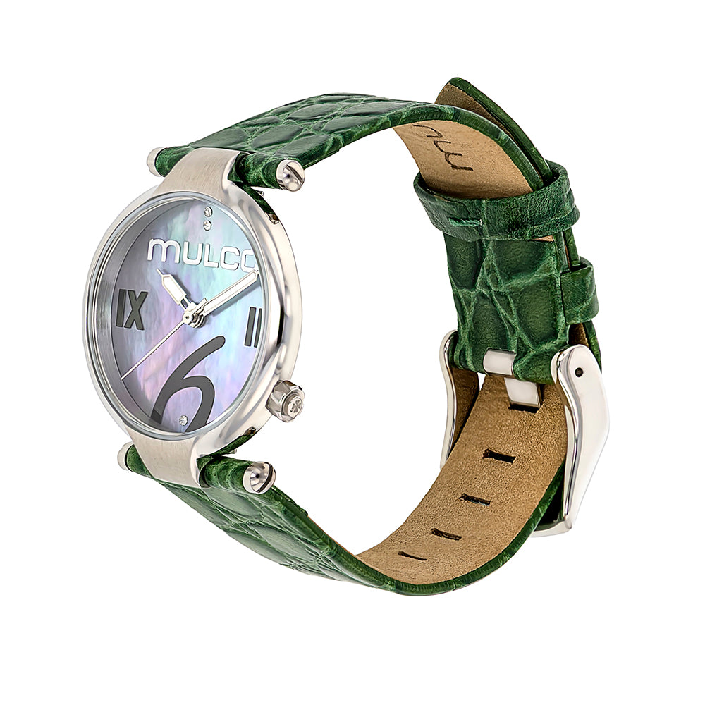 Ladies Watches | Mulco Mini Donna | Green Leather Band | GreenReverse